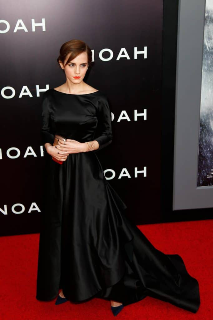 Actress Emma Watson attends the premiere of Noah