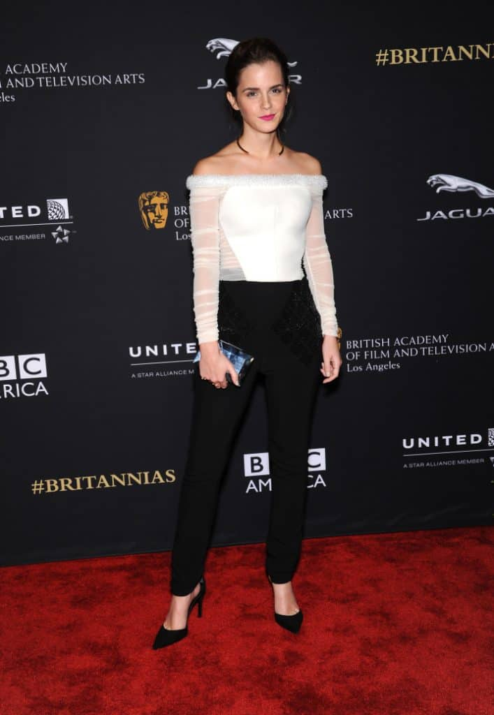 Emma Watson at the BAFTA Jaguar Brittannia Awards
