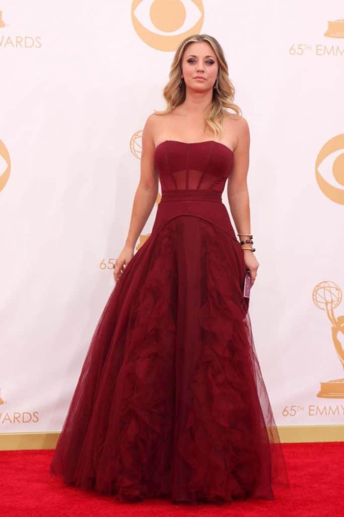 Kaley Cuoco at the Emmy Awards