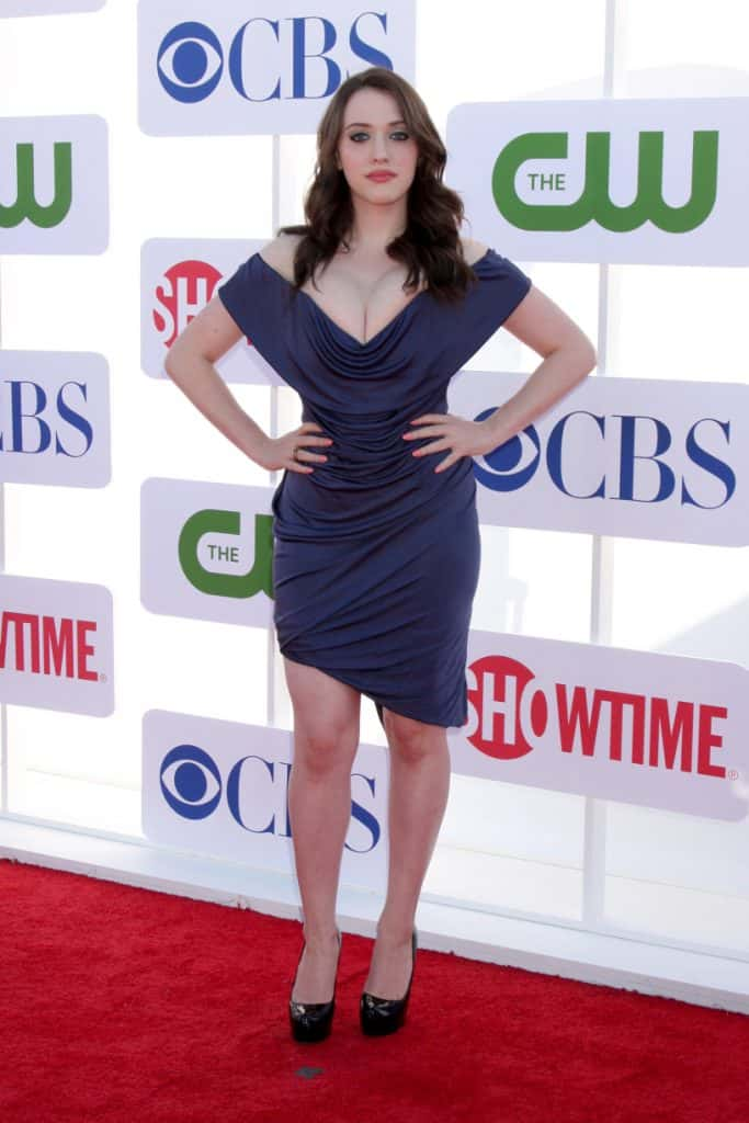 Kat Dennings at the CBS CW