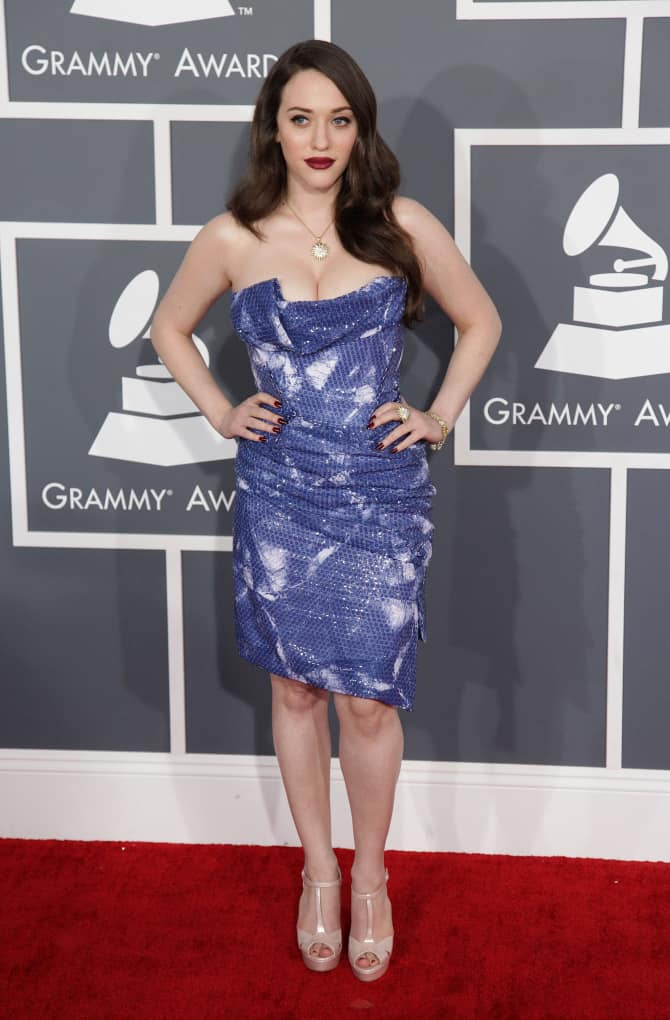 Kat Dennings at to the Grammy Awards