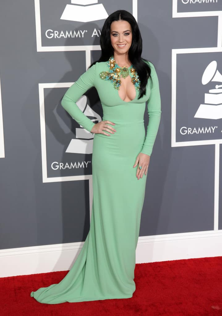 Katy Perry arrives to the Grammy Awards