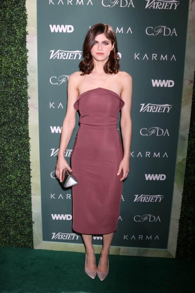 Alexandra Daddario at the CFDA Variety