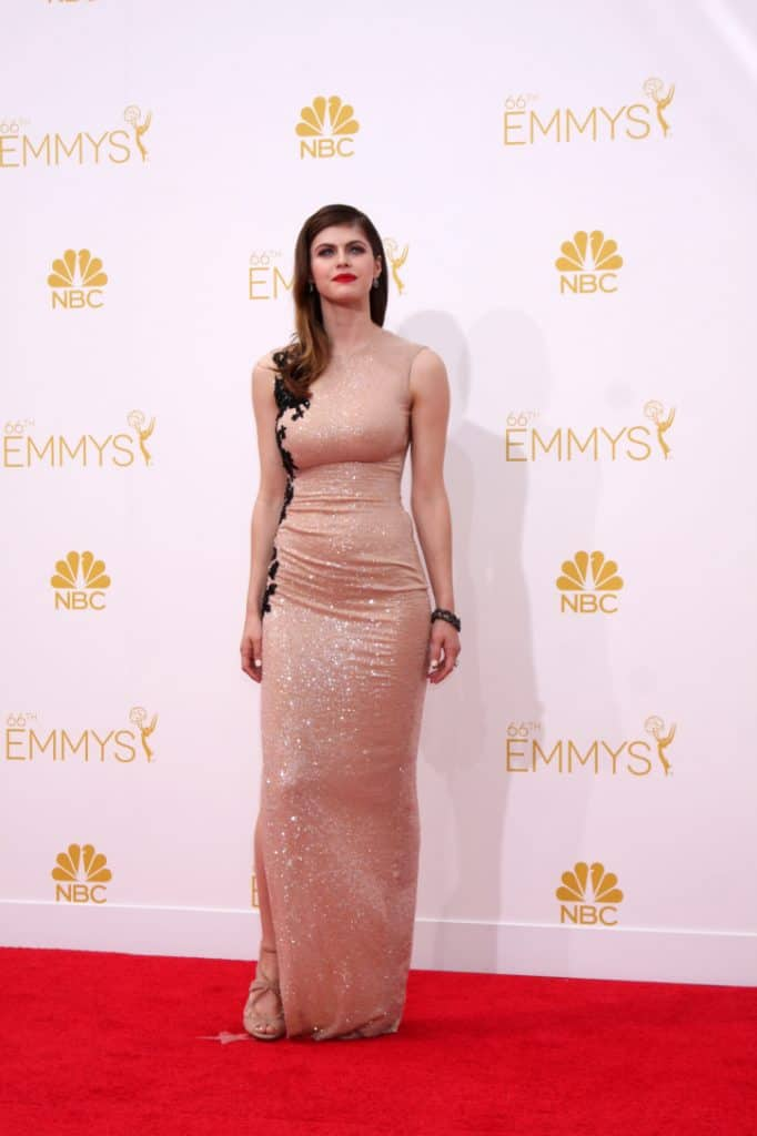 Alexandra Daddario at the Primetime Emmy Awards