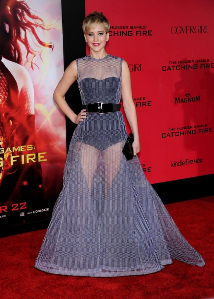 Jennifer Lawrence at the The Hunger Games