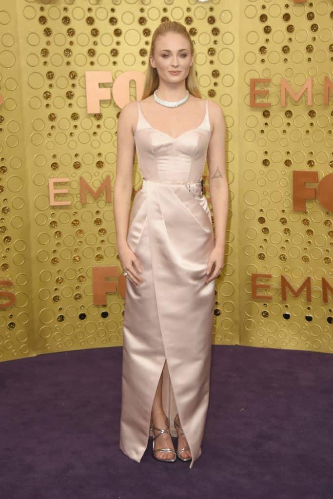 Actress Sophie Turner at Emmy Awards