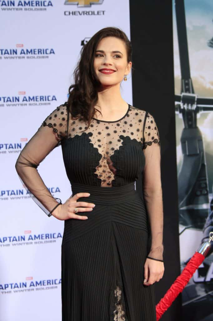 Hayley Atwell at the Captain America The Winter Soldier LA Premiere