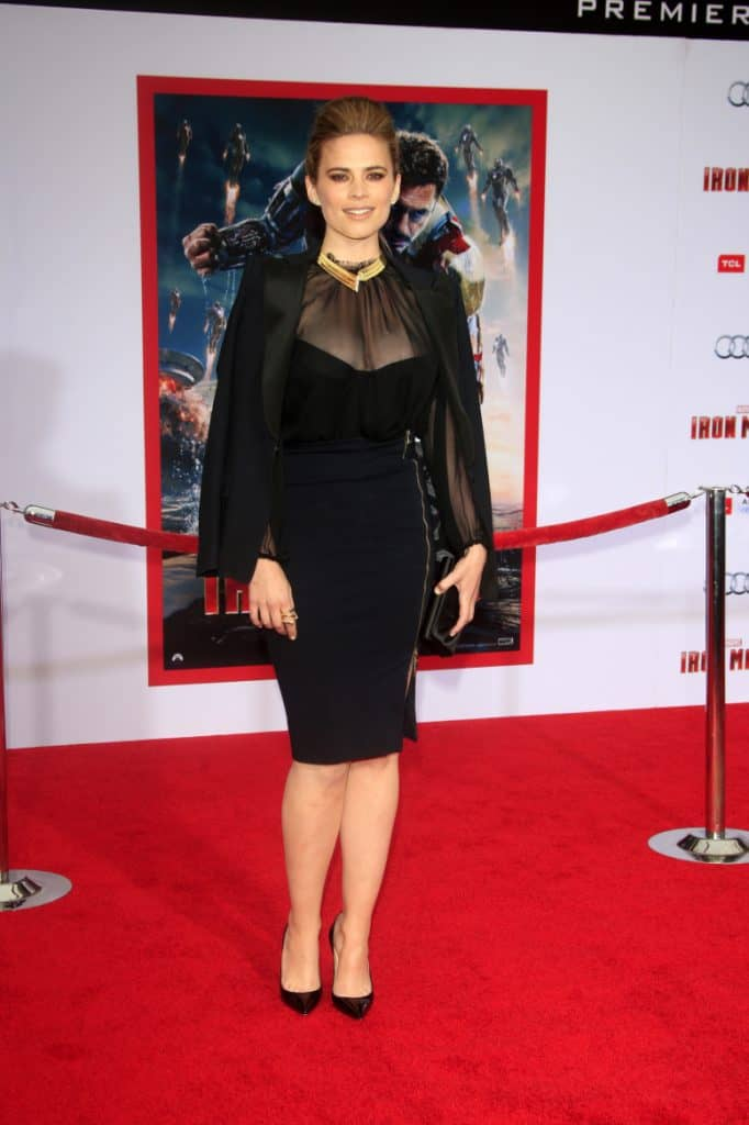 Hayley Atwell at the Iron Man 3 LA premiere