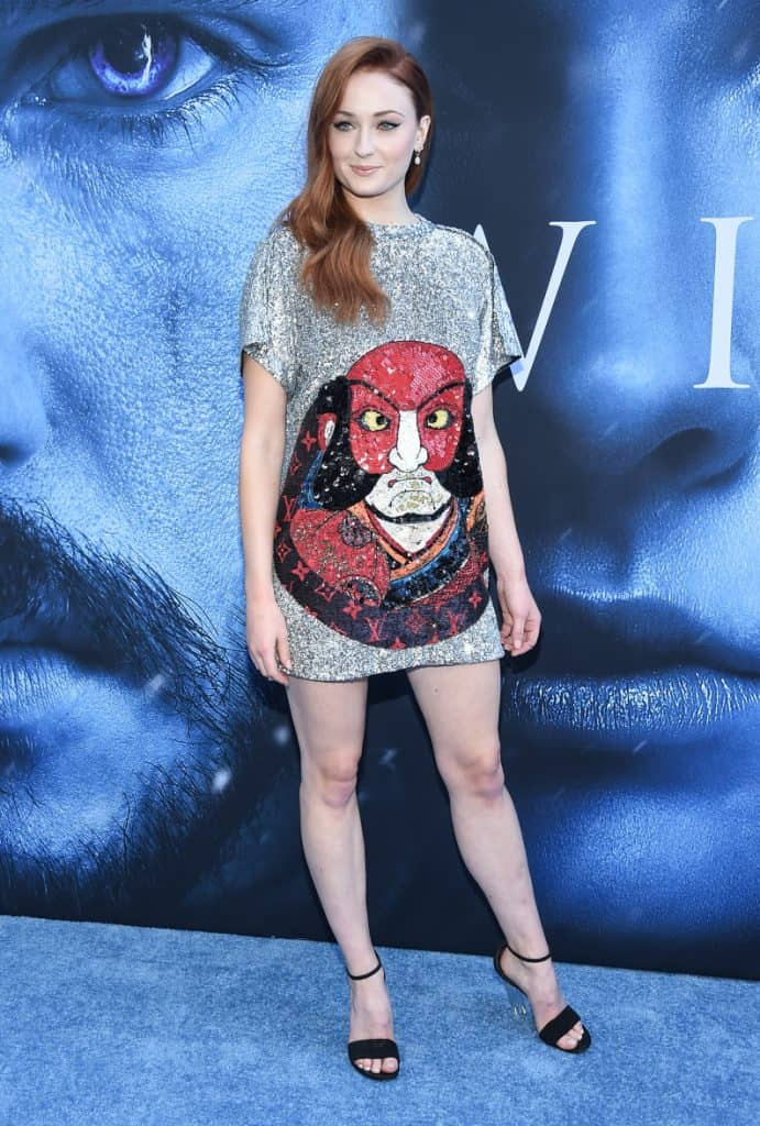 Sophie Turner at the premiere of HBO's Game of Thrones