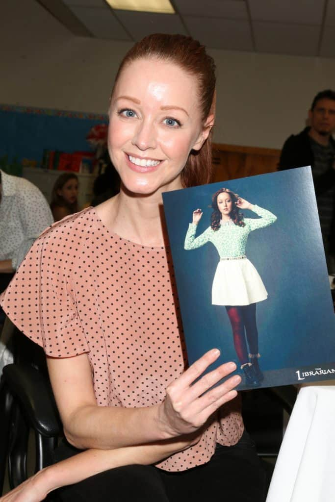 Lindy Booth at the Read Across America Event