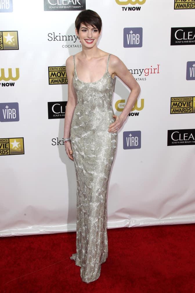 Anne Hathaway at Annual Critics' Choice Movie Awards