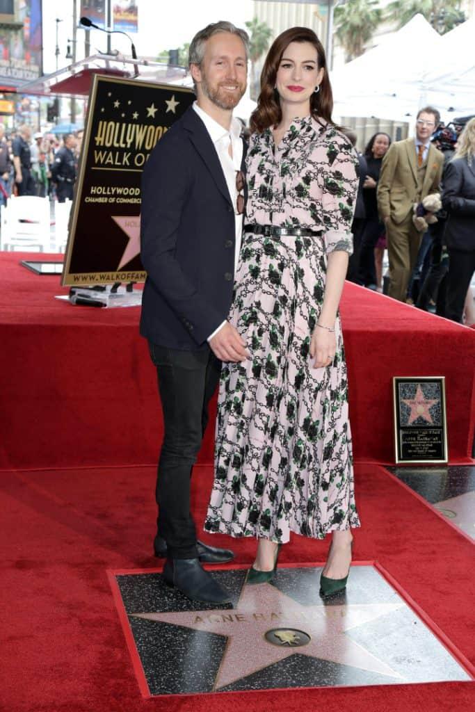 Anne Hathaway with Adam Shulman