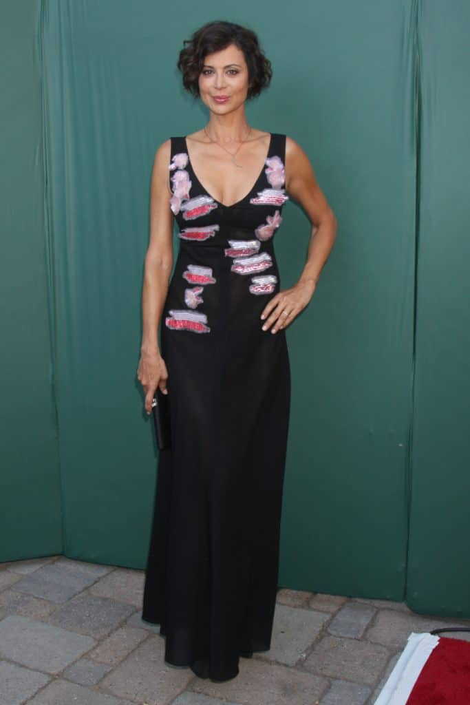 Catherine Bell at the Crown Media Networks