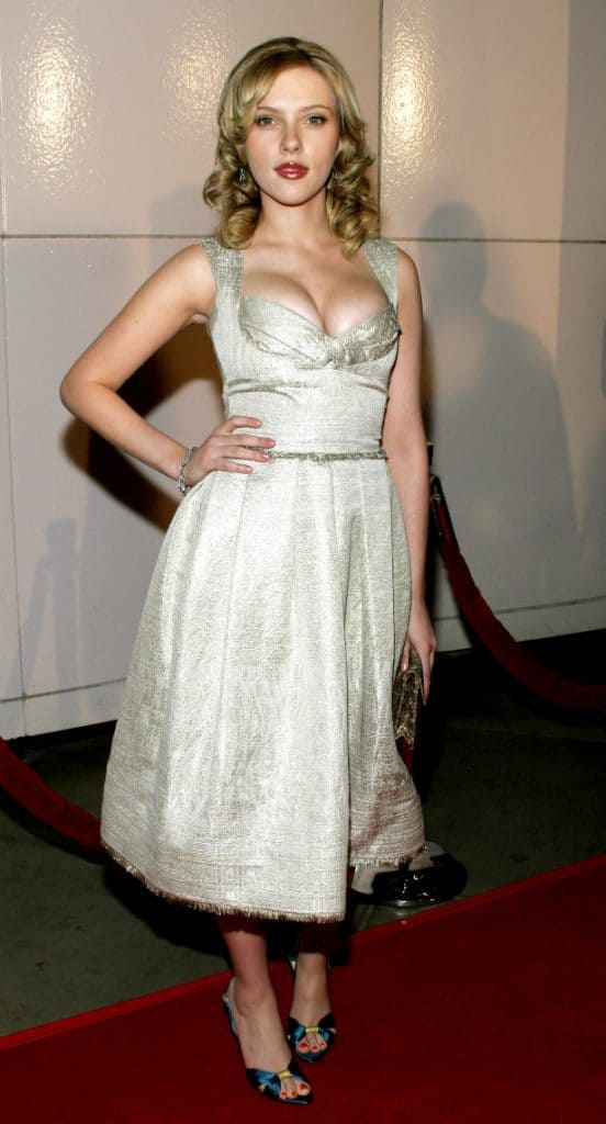 Scarlett Johansson attends the Premiere of Match Point