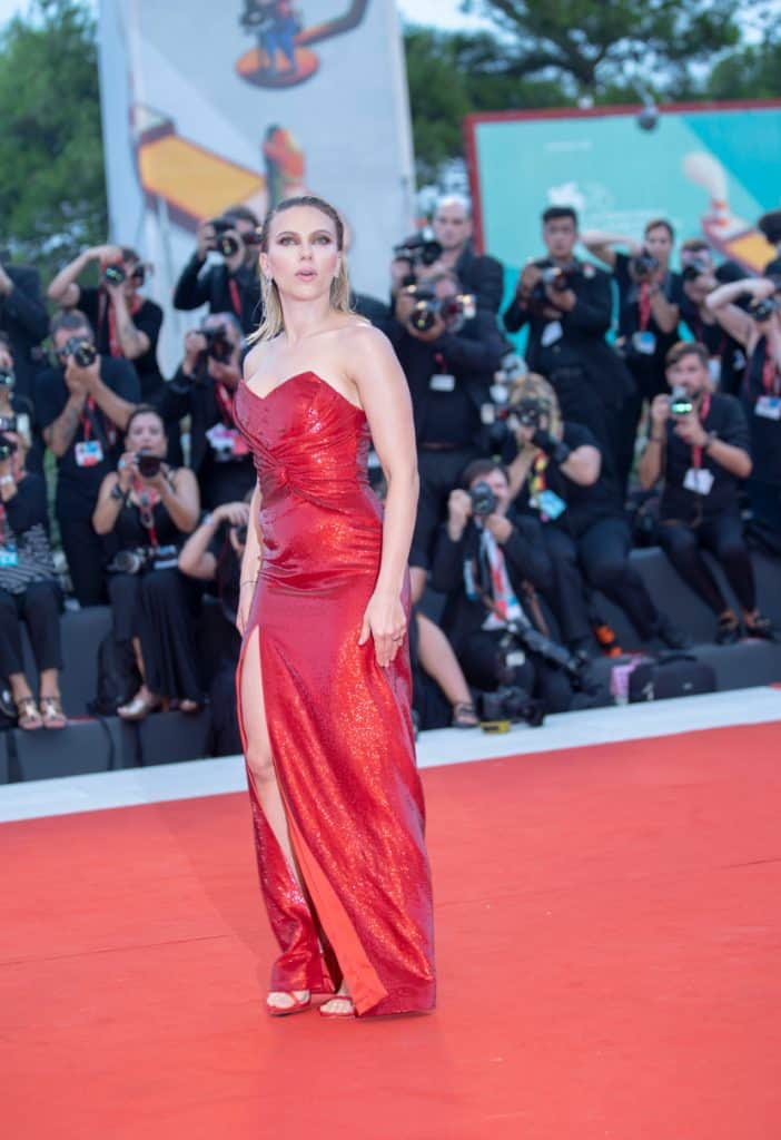 Scarlett Johansson walks the red carpet