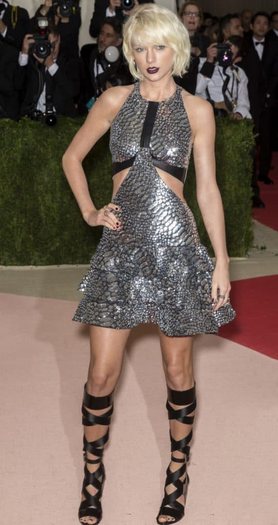 Singer Taylor Swift attends the Met Gala Event