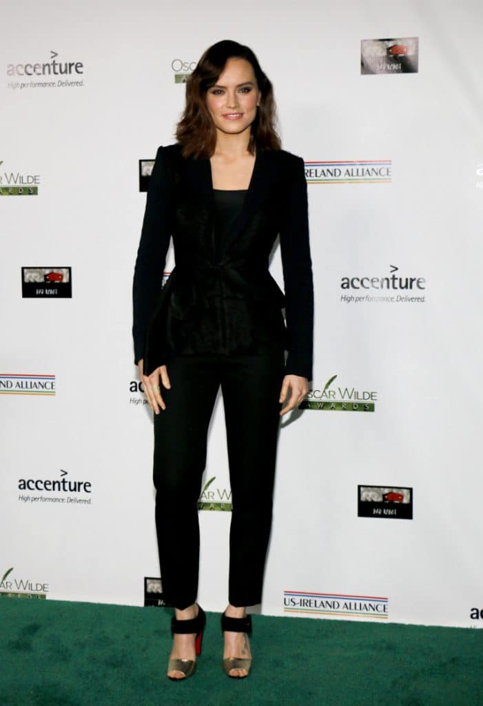 Daisy Ridley at the Oscar Wilde Awards