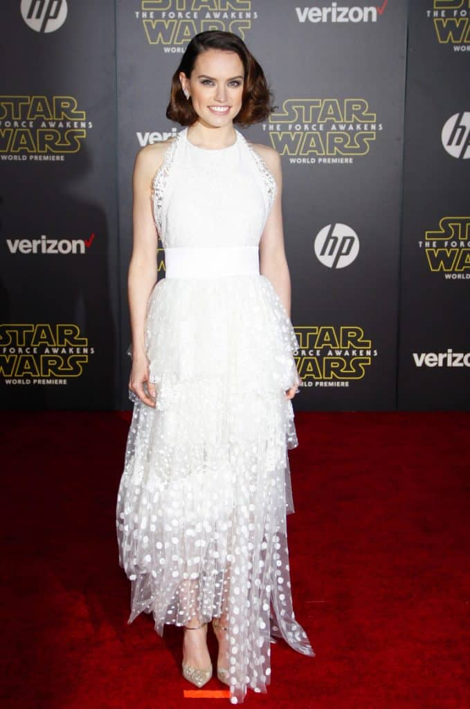 Daisy Ridley at the World premiere of Star Wars The Force Awakens