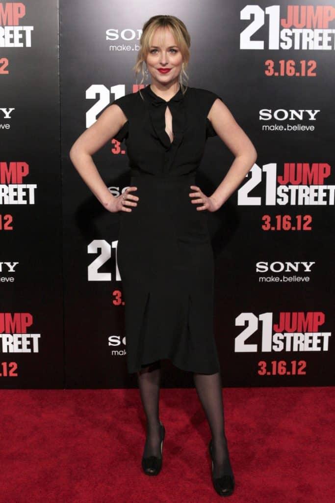 Dakota Johnson at the 21 Jump Street Premiere