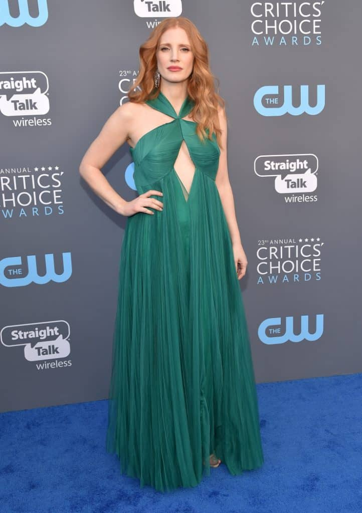 Jessica Chastain at the Annual Critics' Choice Awards