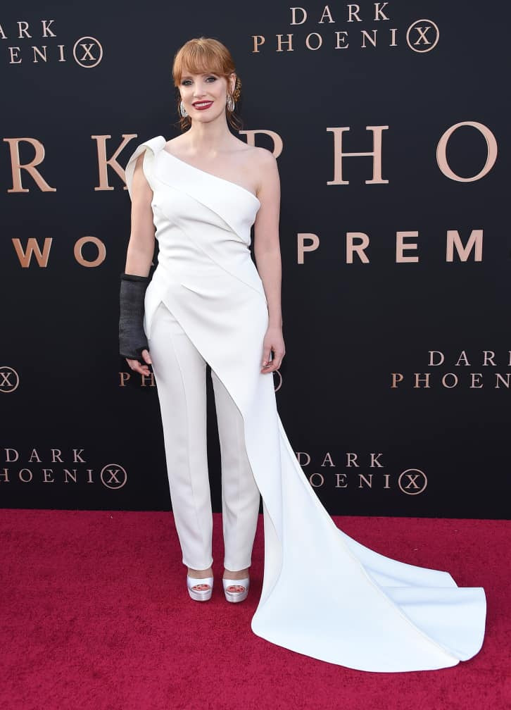 Jessica Chastain at the Dark Phoenix Global Premiere