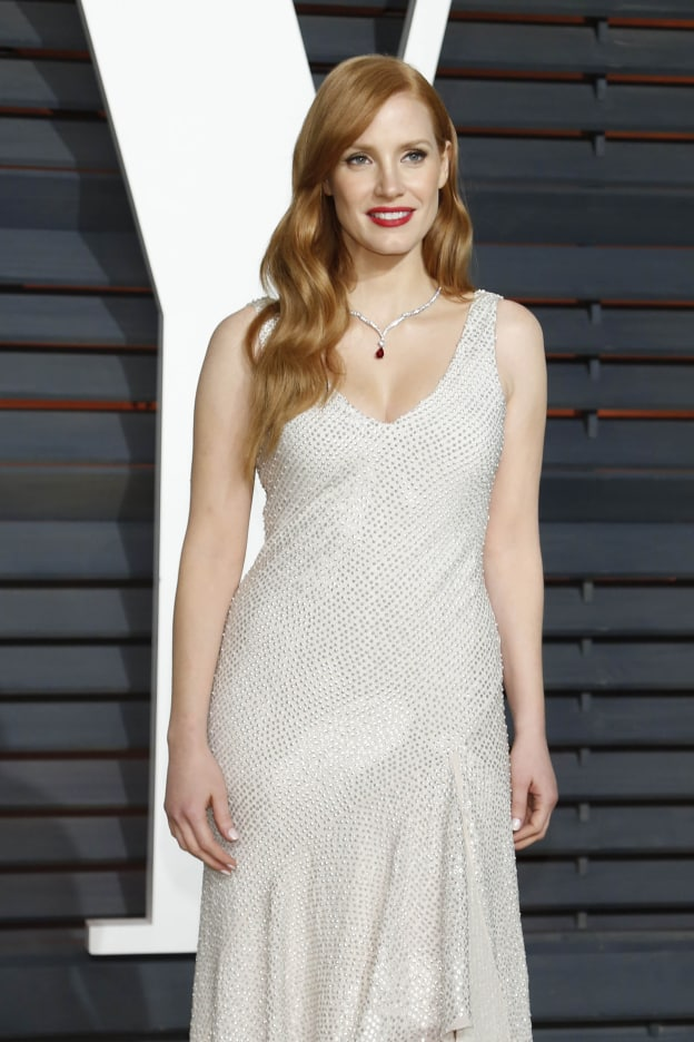 Jessica Chastain at the Vanity Fair Oscar Party