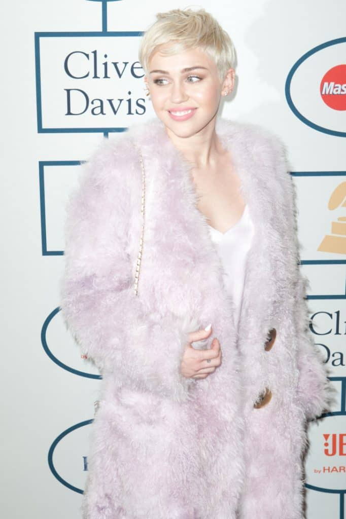 Miley Cyrus at the Academy annual Pre-GRAMMY Gala