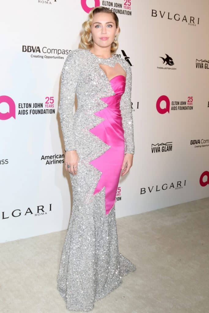 Miley Cyrus at the Oscar Viewing Party