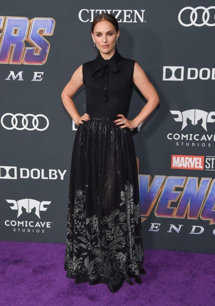 Natalie Portman at the Avengers End Game Movie Premiere