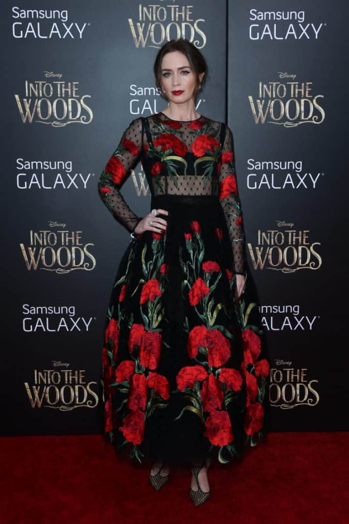 Actress Emily Blunt attends the Into The Woods premiere