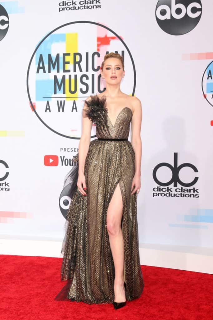 Amber Heard at the American Music Awards
