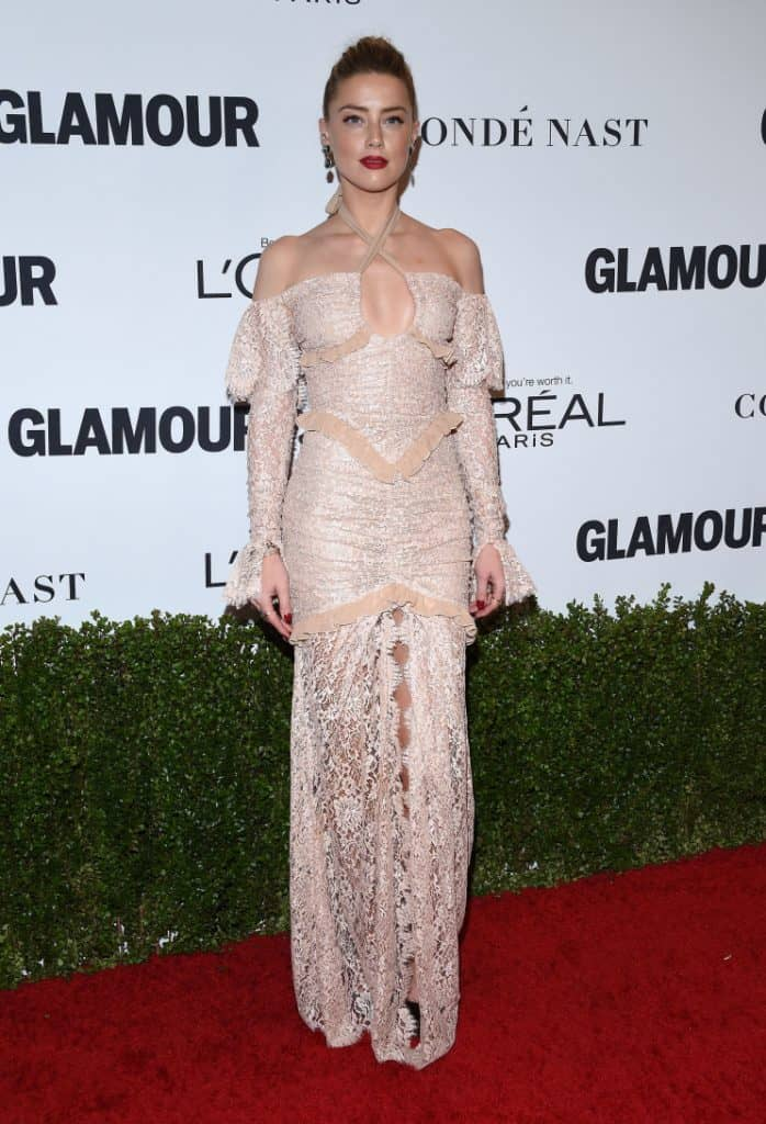 Amber Heard at the Glamour Celebrates Women of the Year Awards