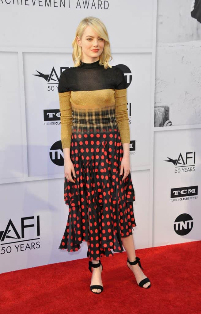Emma Stone at the AFI Life Achievement Award Gala