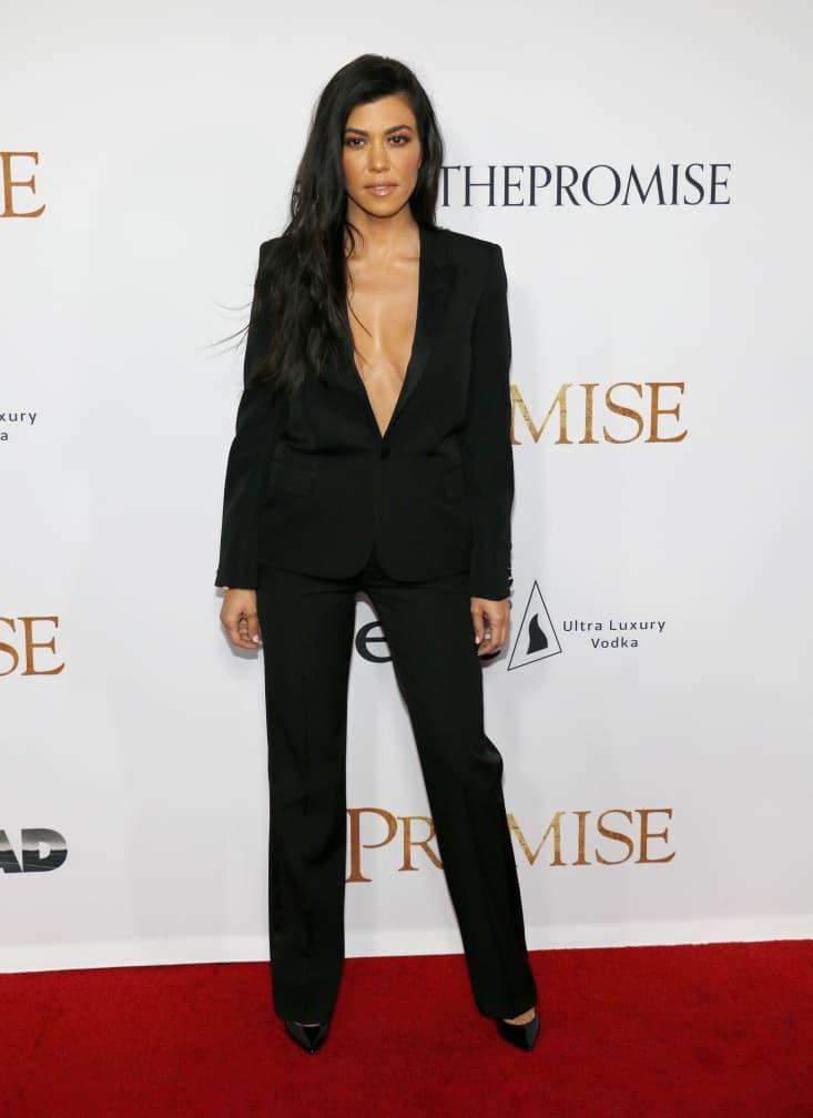Kourtney Kardashian at the premiere of The Promise