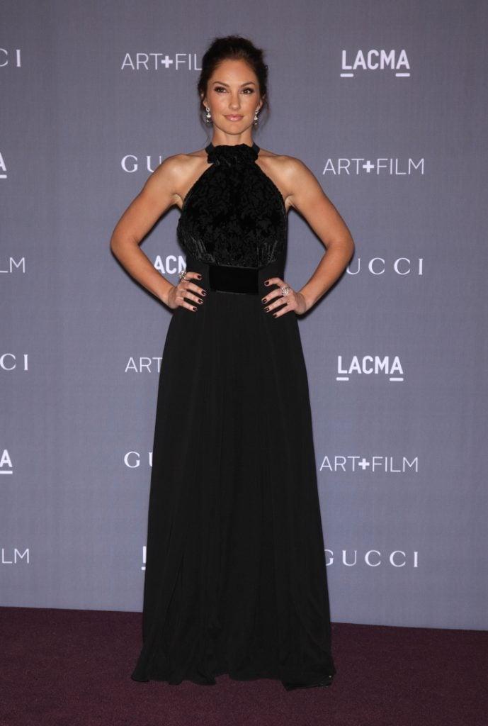 MINKA KELLY arrives to the LACMA hosts Art Film Gala