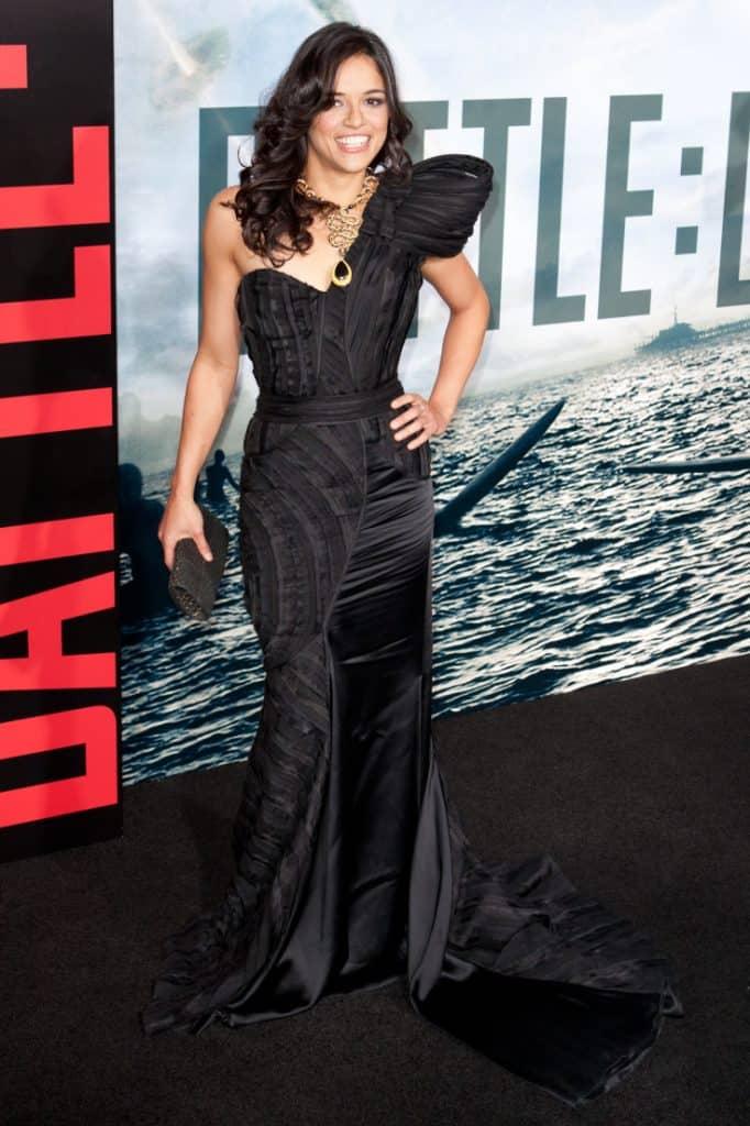 Michelle Rodriguez arrives at premiere of Battle Los Angeles