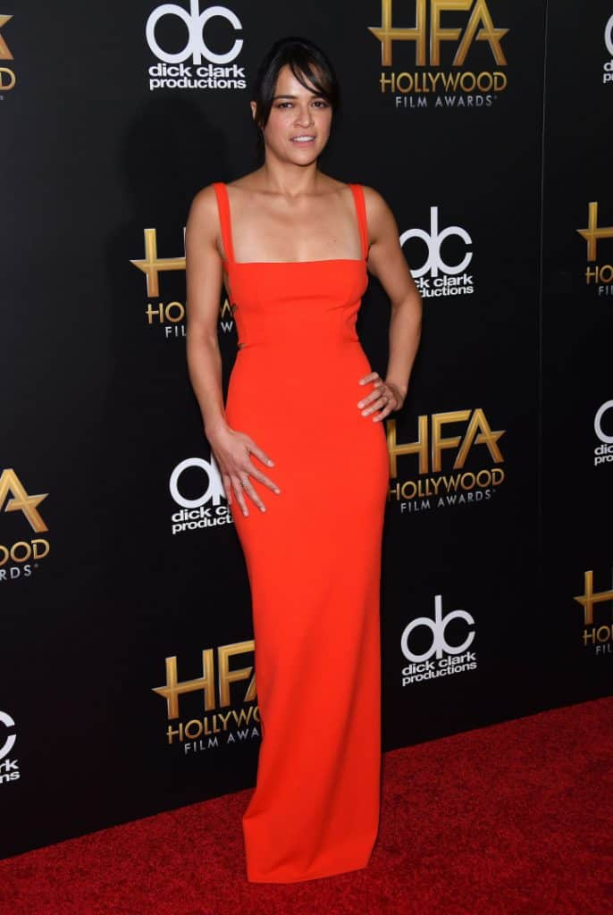 Michelle Rodriguez arrives to the Hollywood Film Awards