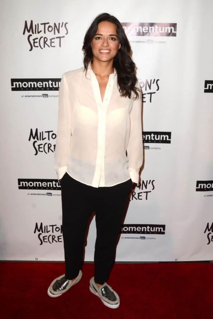 Michelle Rodriguez at the Milton's Secret Premiere