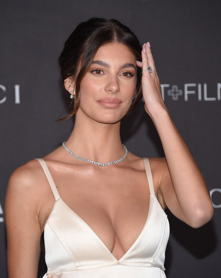 Camila Morrone arrives for the LACMA Art and Film Gala Event