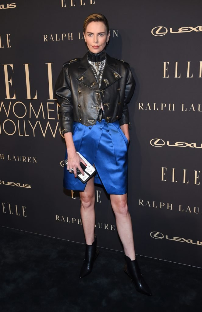 Charlize Theron arrives for the ELLE Women