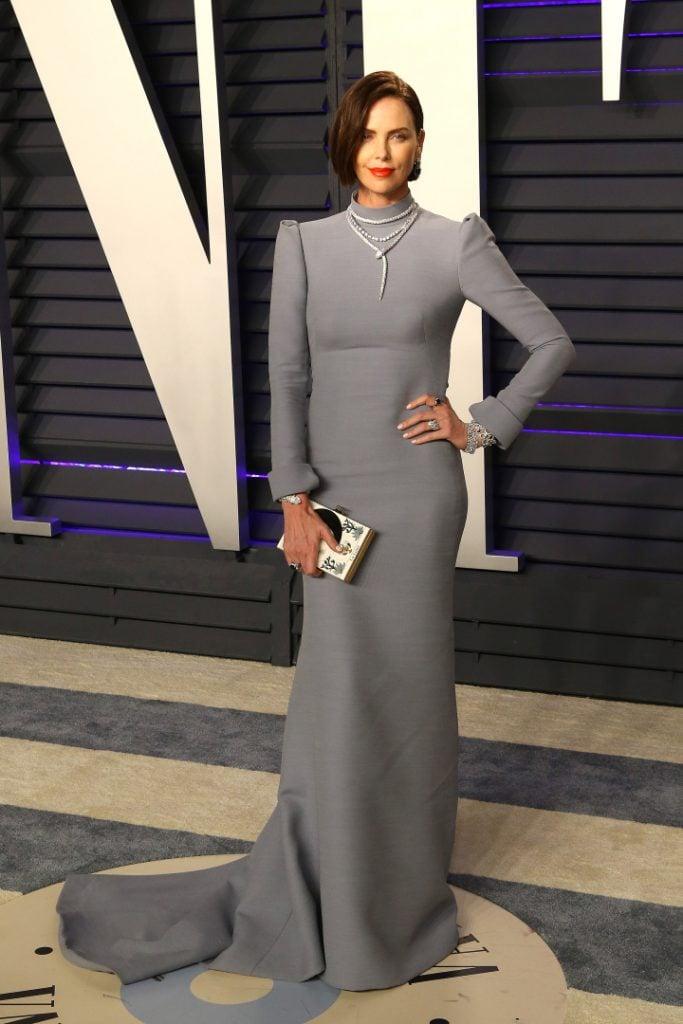 Charlize Theron at the Vanity Fair Oscar Party