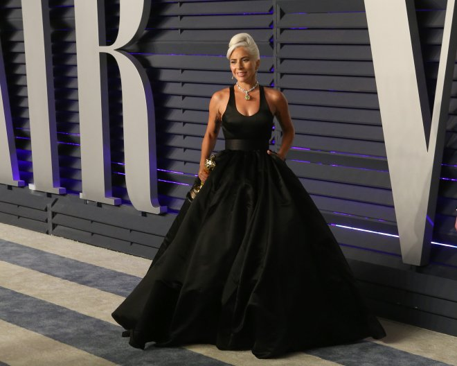Lady Gaga at the Vanity Fair Oscar Party