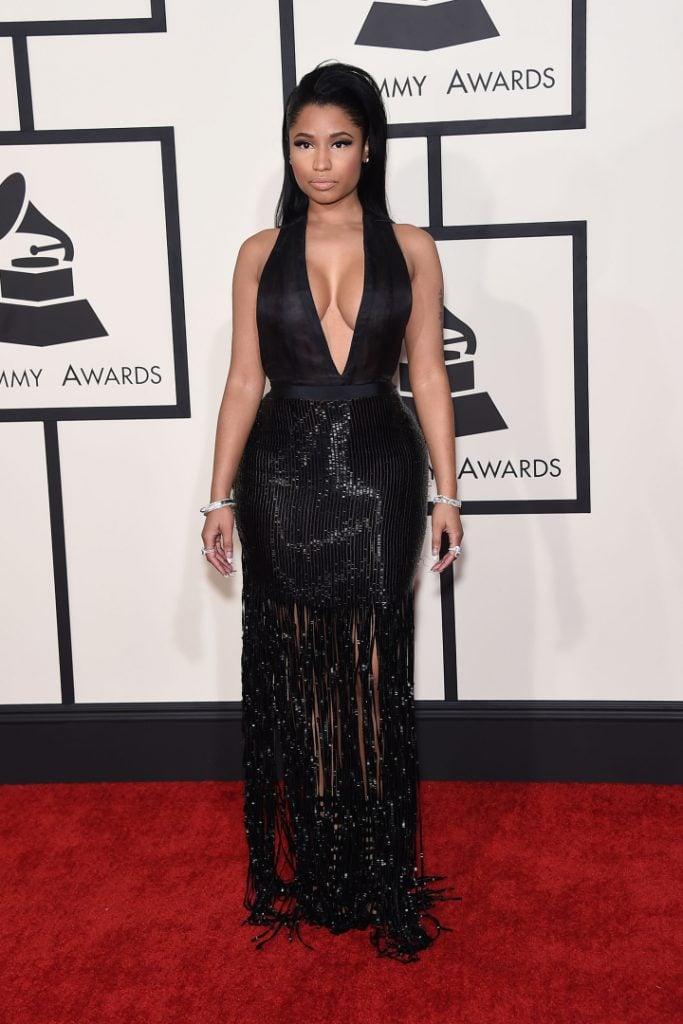 Nicki Minaj arrives to the Grammy Awards