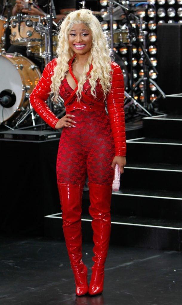 Nicki Minaj performs on the Today Show at Rockefeller Plaza