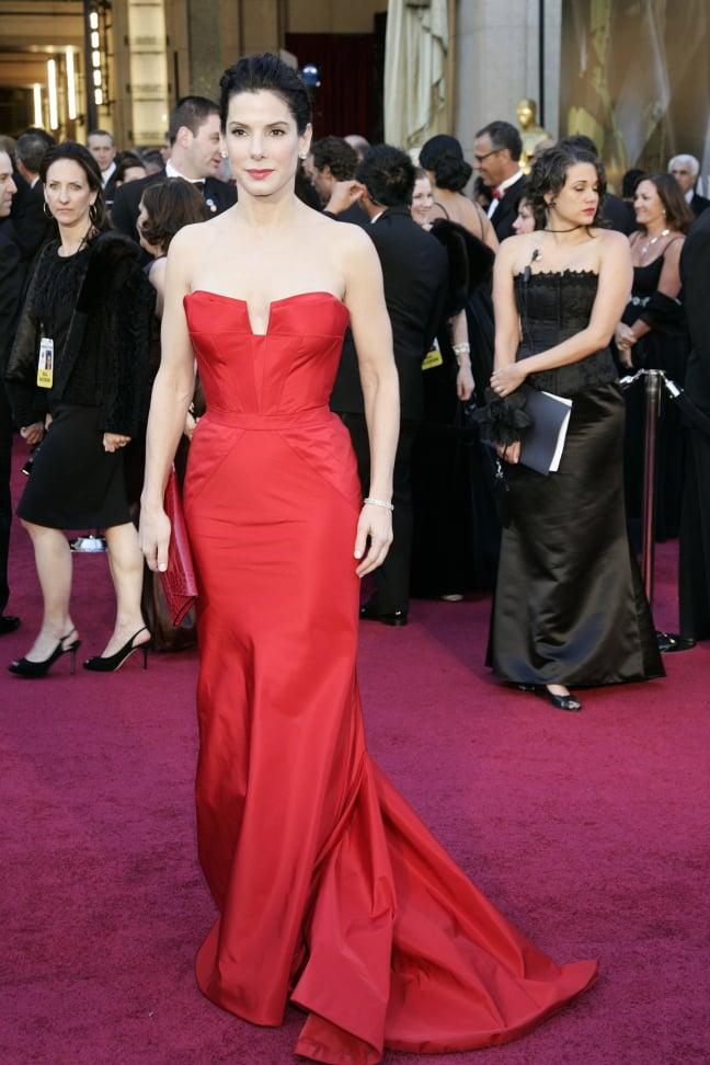 Sandra Bullock arrives at the Academy Awards Oscars