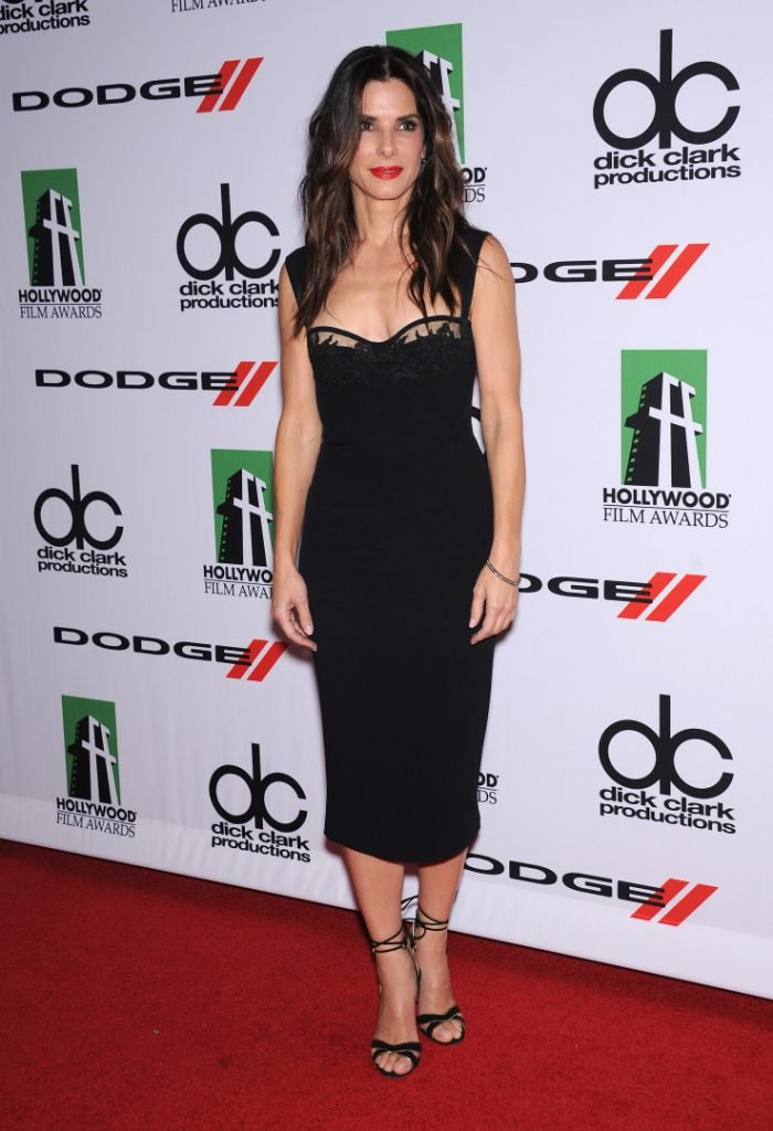 Sandra Bullock arrives to the Hollywood Film Awards