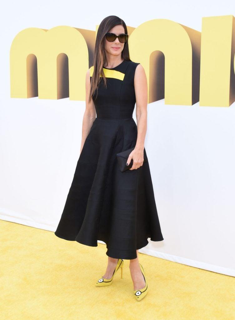 Sandra Bullock at the Minions Movie Premiere