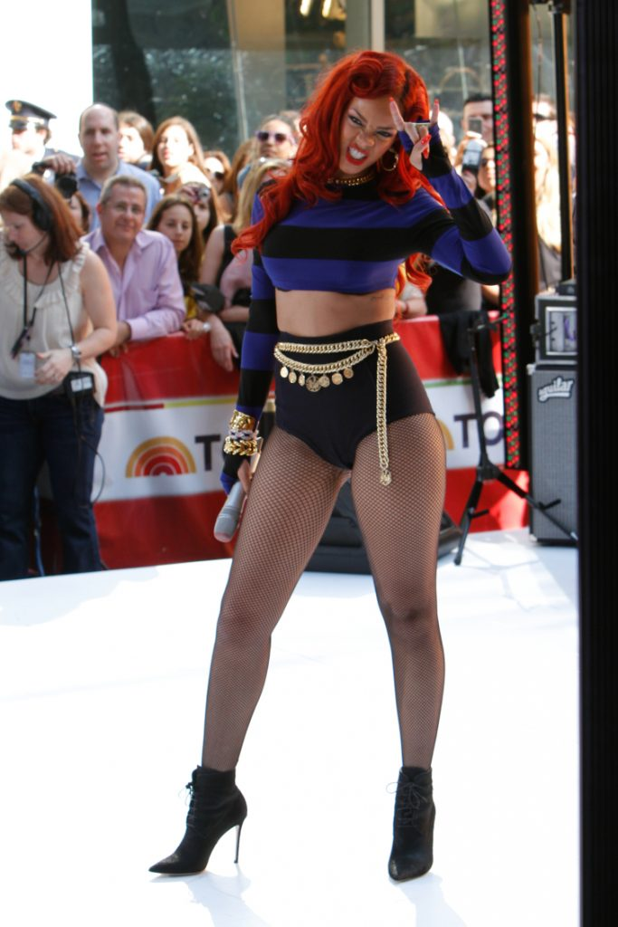 Singer Rihanna performs on the TODAY Show Concert
