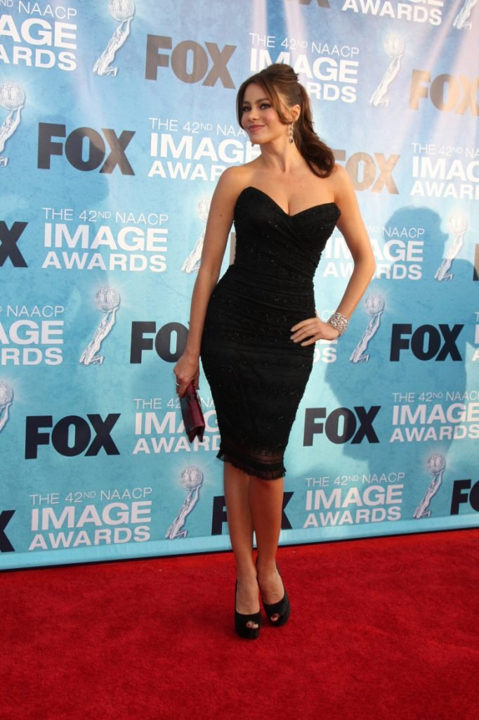 Sofia Vergara arriving at the NAACP Image Awards