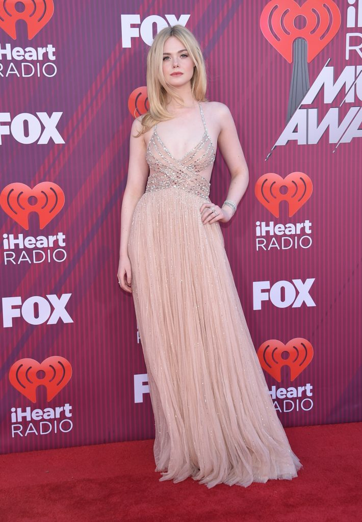Actress Elle Fanning at the iHeart Radio Music Awards